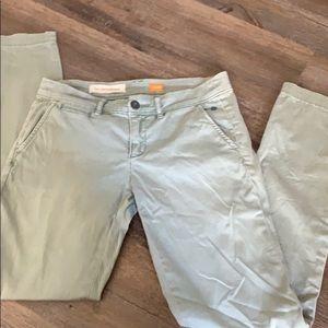 Anthropolgie Pilcro green pants euc 25